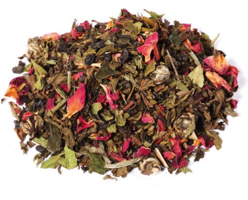 thé vert menthe rose