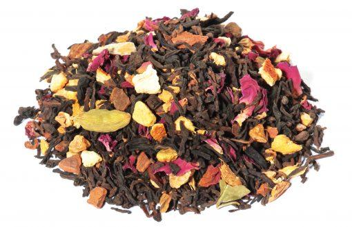 Mélange de thés noirs Pu Ehr et de Lapsang Souchong