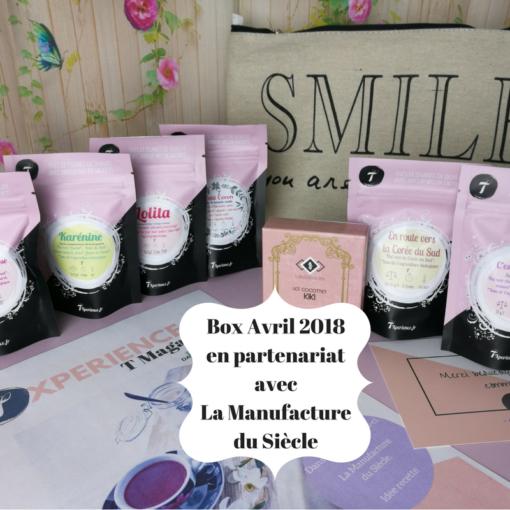 Box Avril 2018 en partenariat avec La Manufacture du Siècle