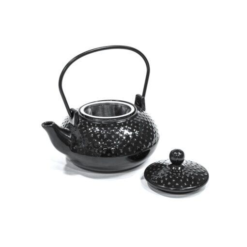 Théière céramique noire