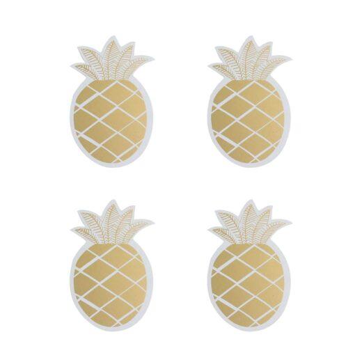 dessous de tasses ananas