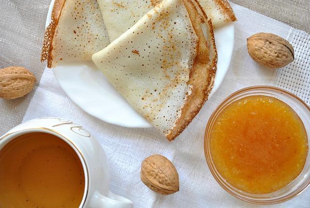 crêpes au thé zestes orange