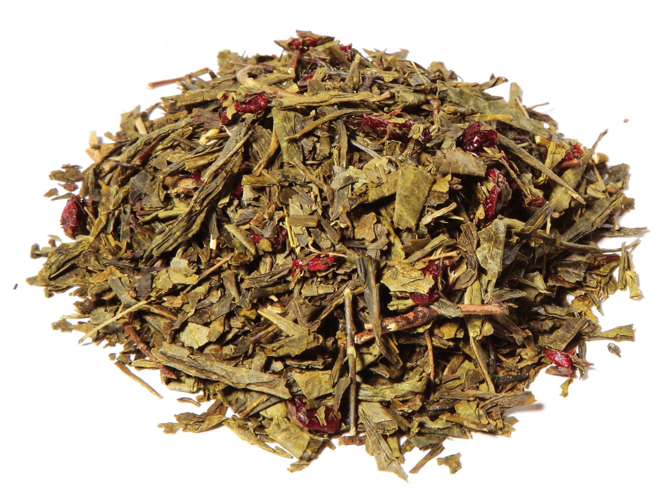 thé vert sencha à la cerise